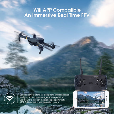 Drone E58 WIFI FPV With Wide Angle HD Camera High Hold Mode Foldable Arm RC Quadcopter
