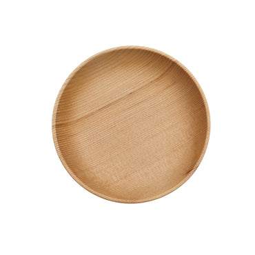 Round Wooden Dinner Plates Eco friendly Delicate Dinnerware - Jarblue