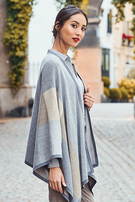 Model wearing Women's Sophie Herringbone Wrap