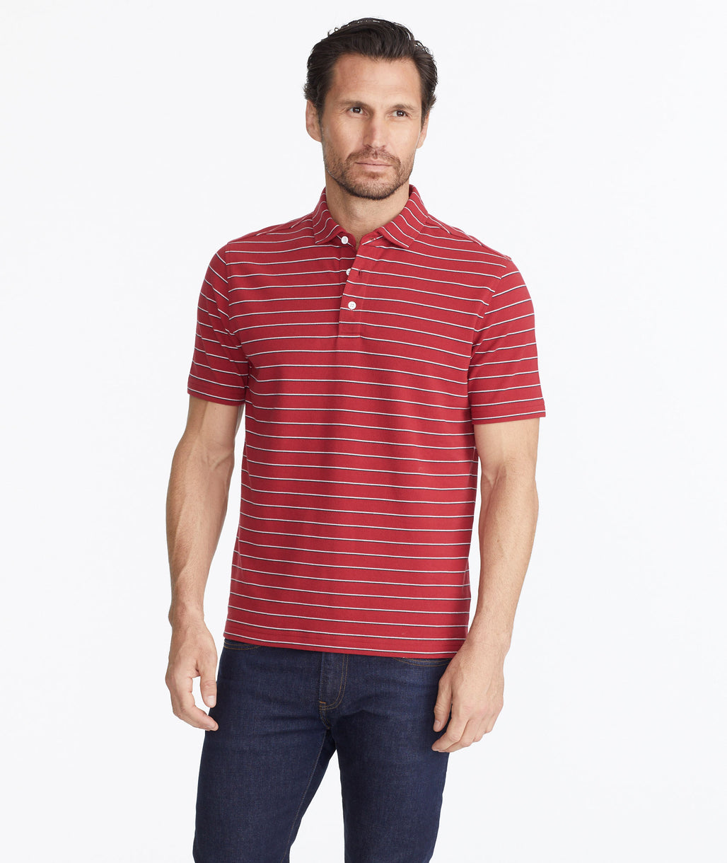 Model wearing a Red The Classic Pique Polo