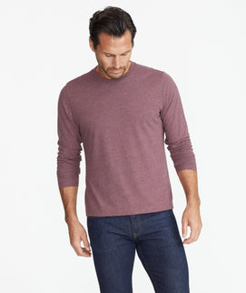 Model wearing a Purple Ultrasoft Long-Sleeve Tee