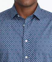 Classic Cotton Shirt with Geometric Dot Print Zoom