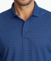 Pique Lattice Long-Sleeve Polo Zoom
