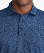 Pique Floral Long-Sleeve Polo Zoom