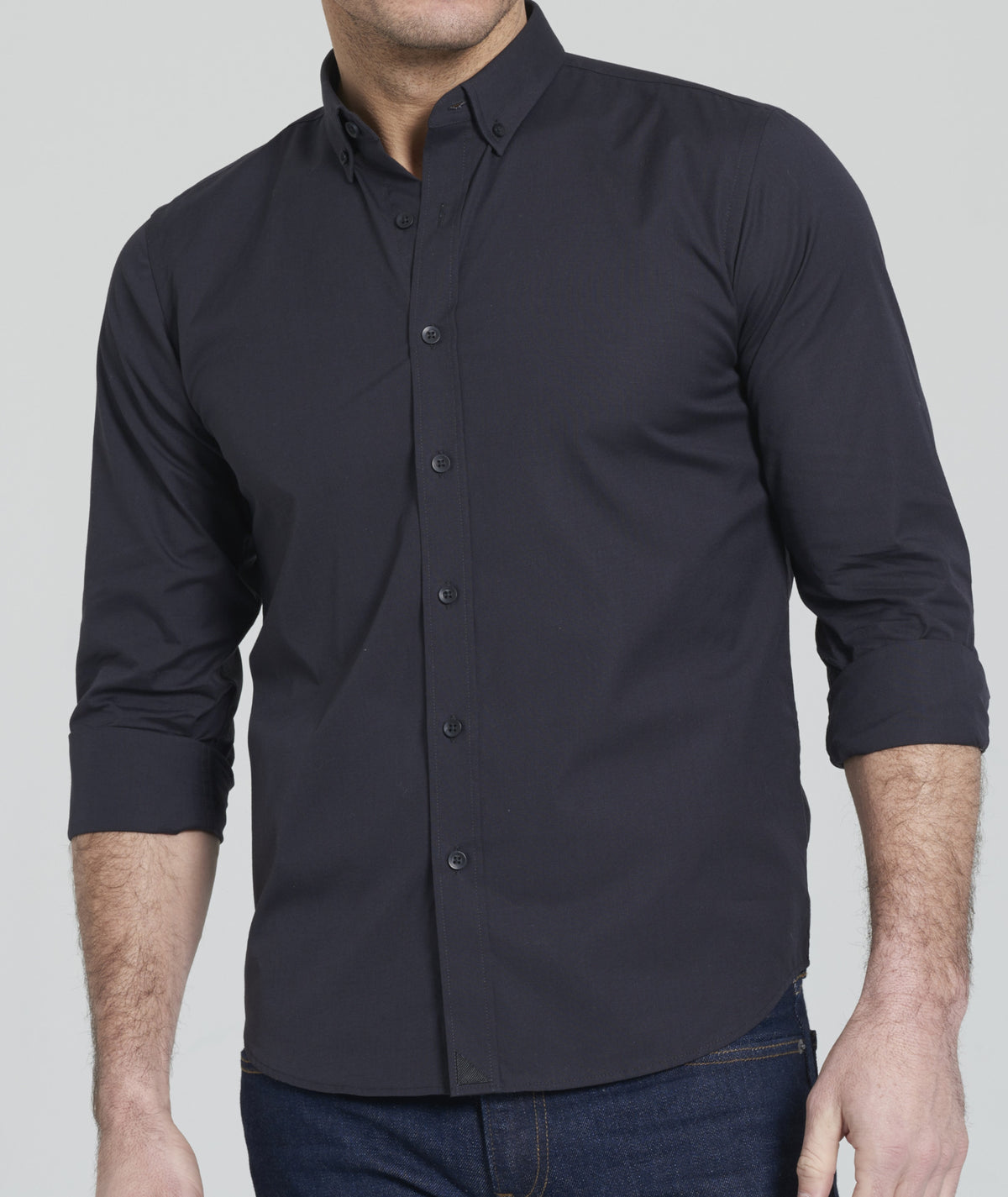 Carter With Black - Button Down Collar