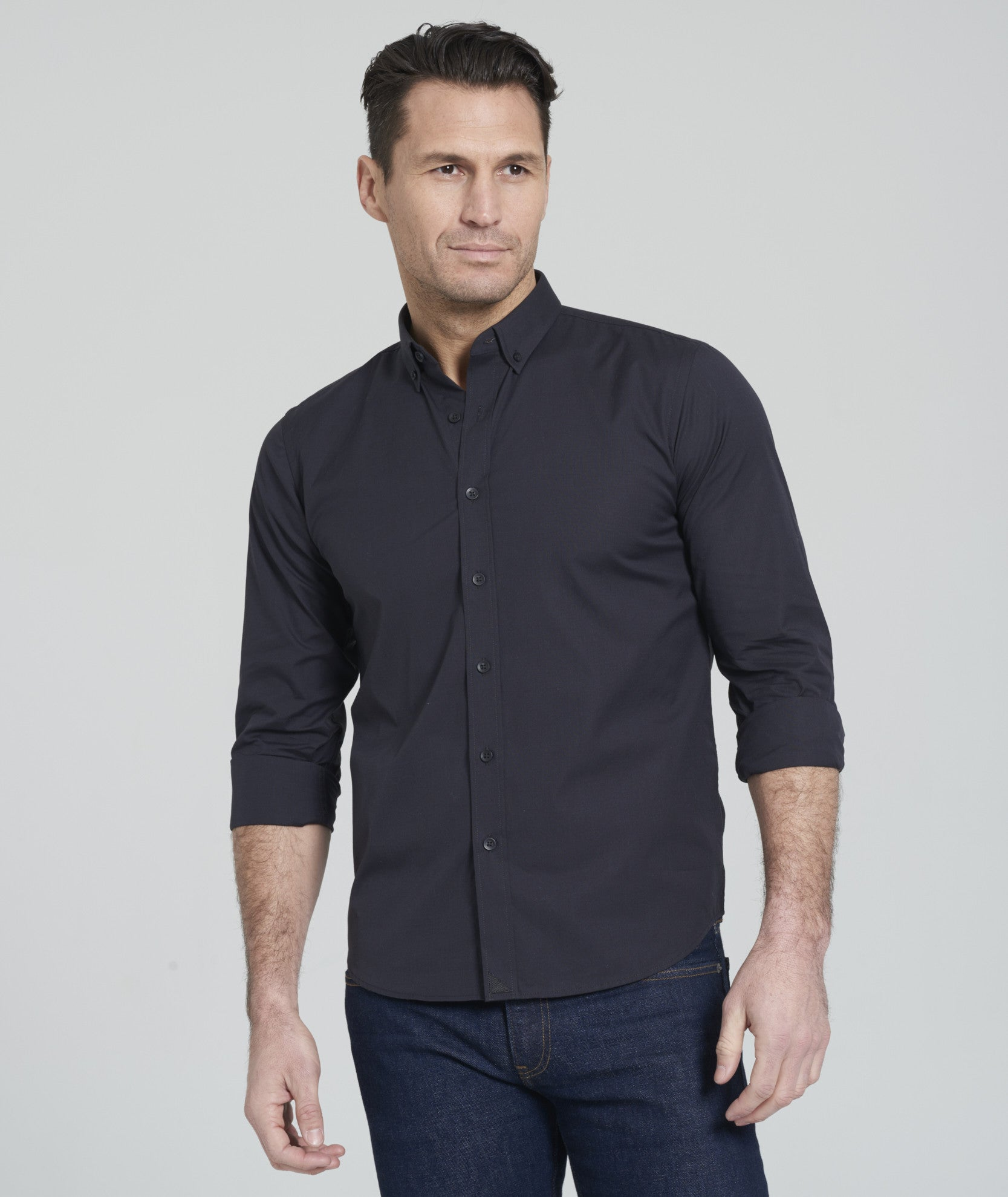 Carter With Black - Button Down Collar. fb-feed bb52049e09d3