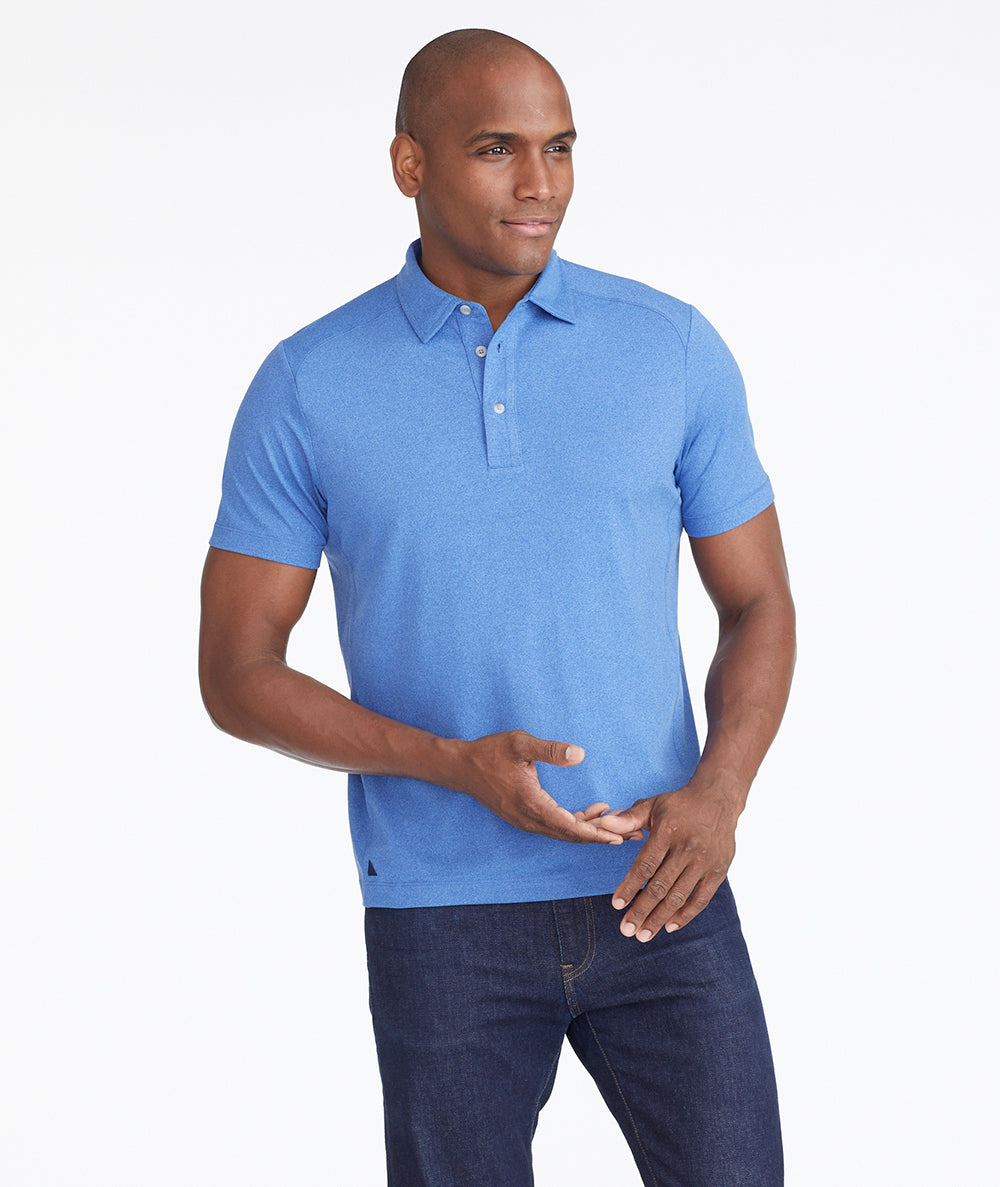 Model wearing a  Performance Polo