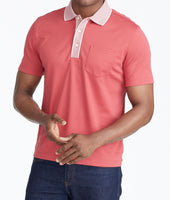 Wrinkle-Free Polo with Contrast Collar - FINAL SALE 1