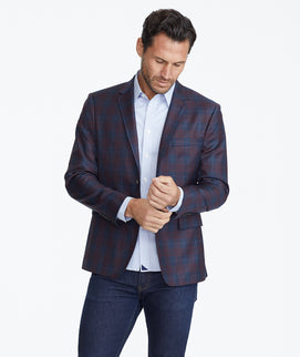 Model wearing a Navy Constructed Sport Coat