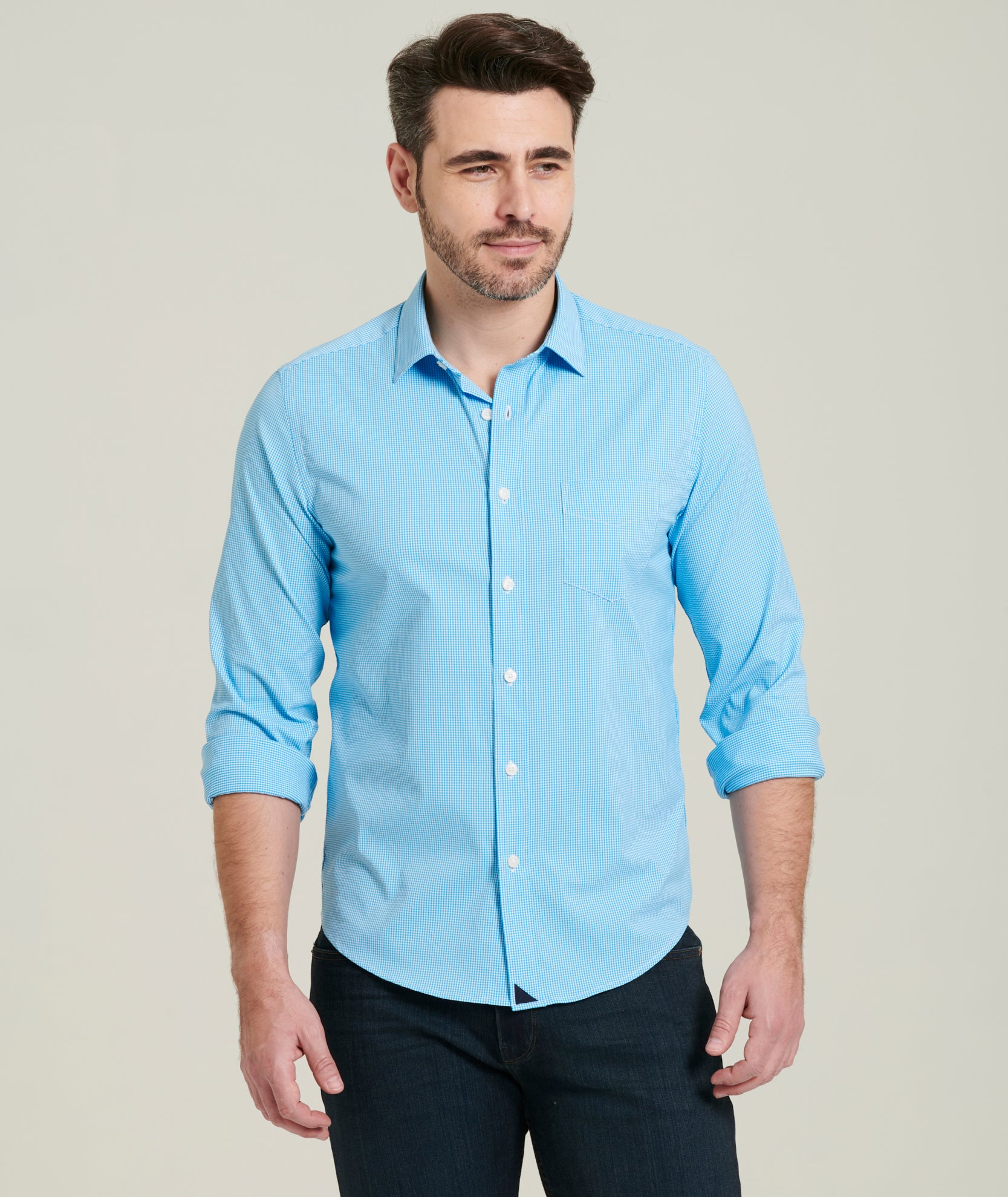 Juno Yvona - Dress Design: Dress Shirt With Jeans Untucked