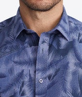 Classic Short-Sleeve Shirt with Hawaiian Print - FINAL SALE Zoom