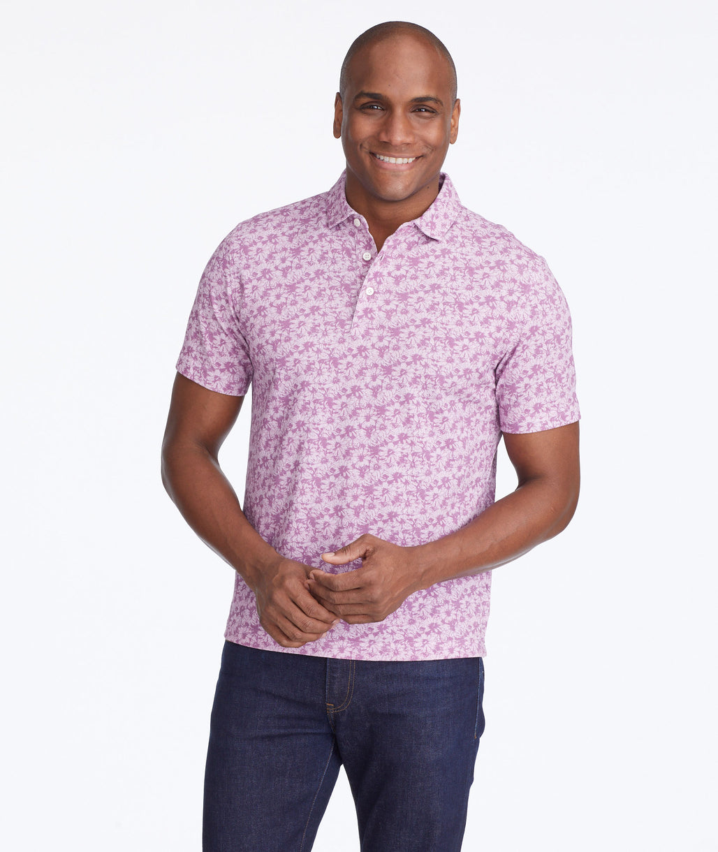 Model wearing a Pink Classic Pique Daffodil Polo