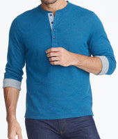 Double-Faced Long-Sleeve Henley - FINAL SALE 1