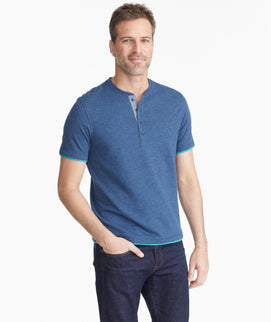 The Double-Faced Short-Sleeve Henley - FINAL SALE