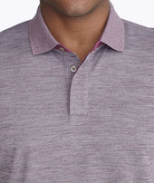 No Sweat Heathered Polo Zoom