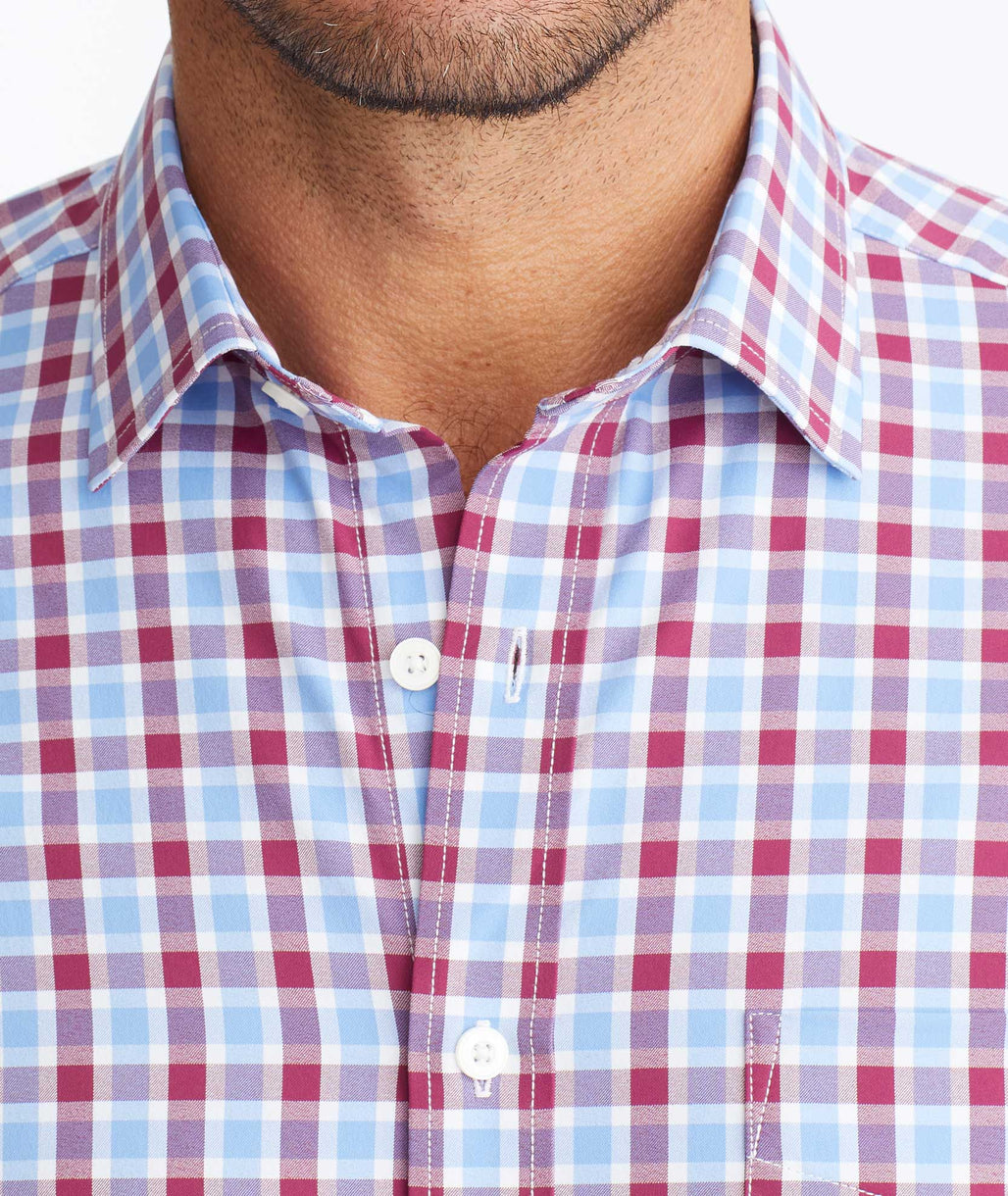 Wrinkle-Free Performance+ Short-Sleeve Hopler Shirt