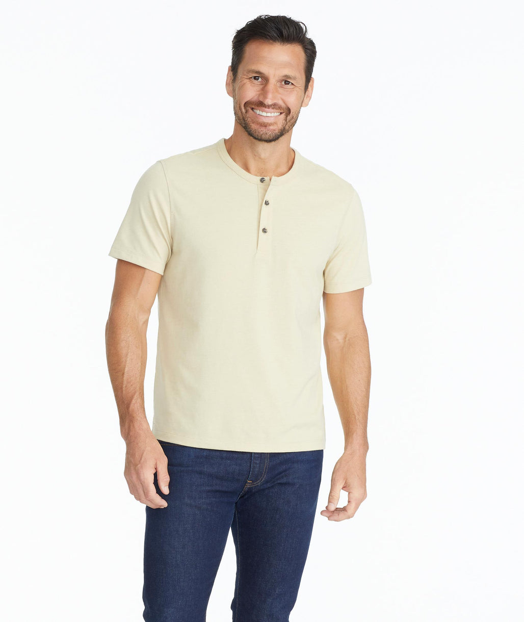 Model wearing a Tan Jericho - Pale Khaki