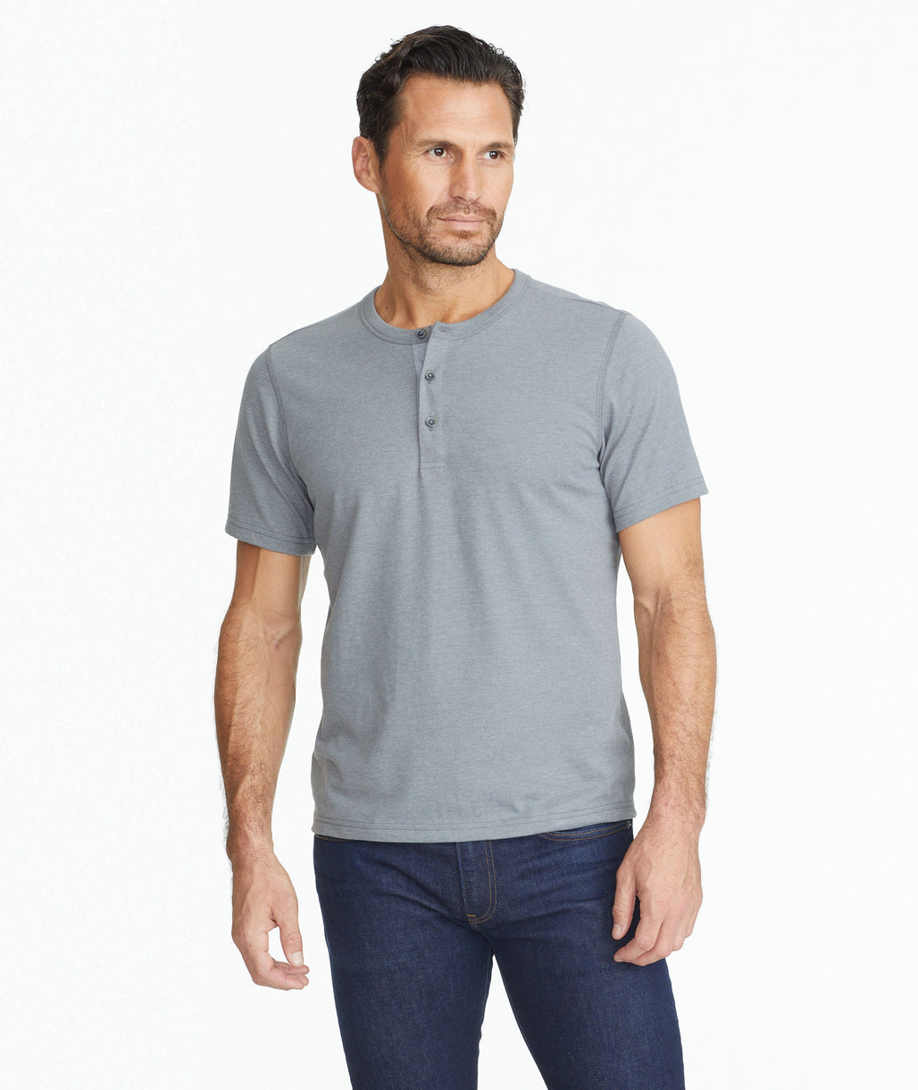Model wearing a Ultrasoft Short-Sleeve Henley