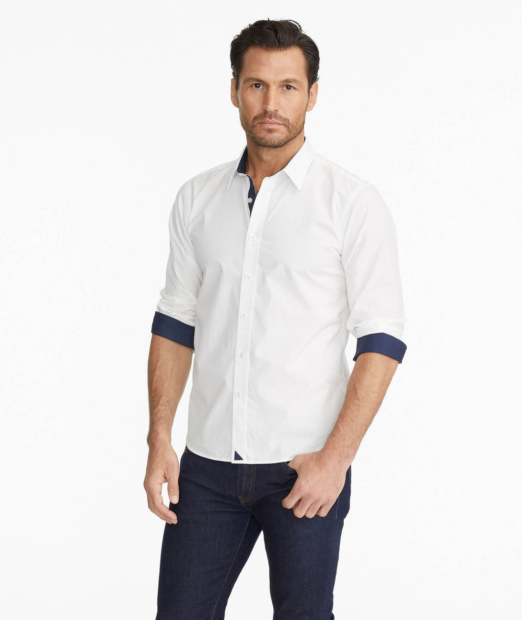 Model wearing a Wrinkle-Free Las Cases Special Shirt