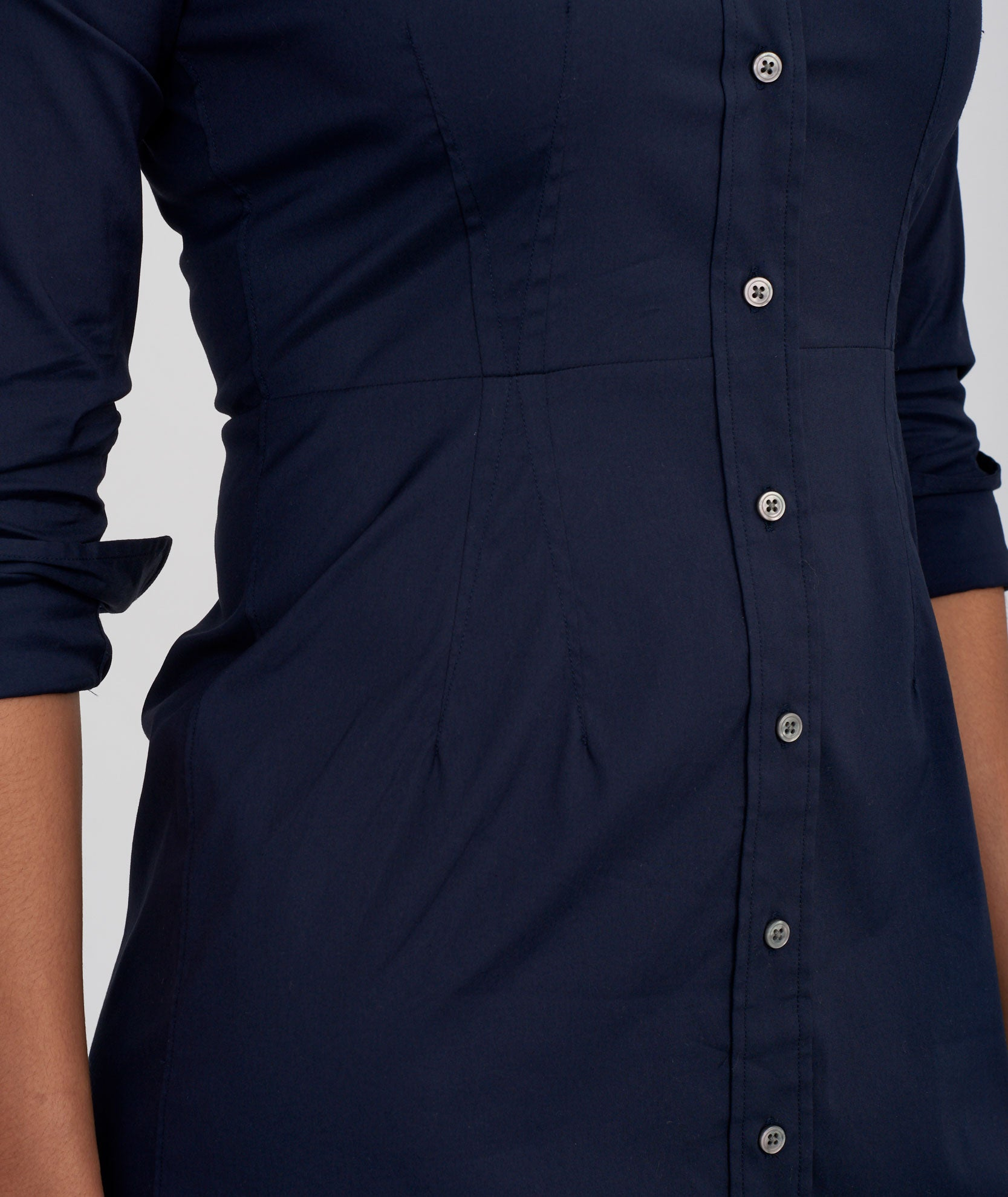 Marisol Navy Shirt Dress Untuckit