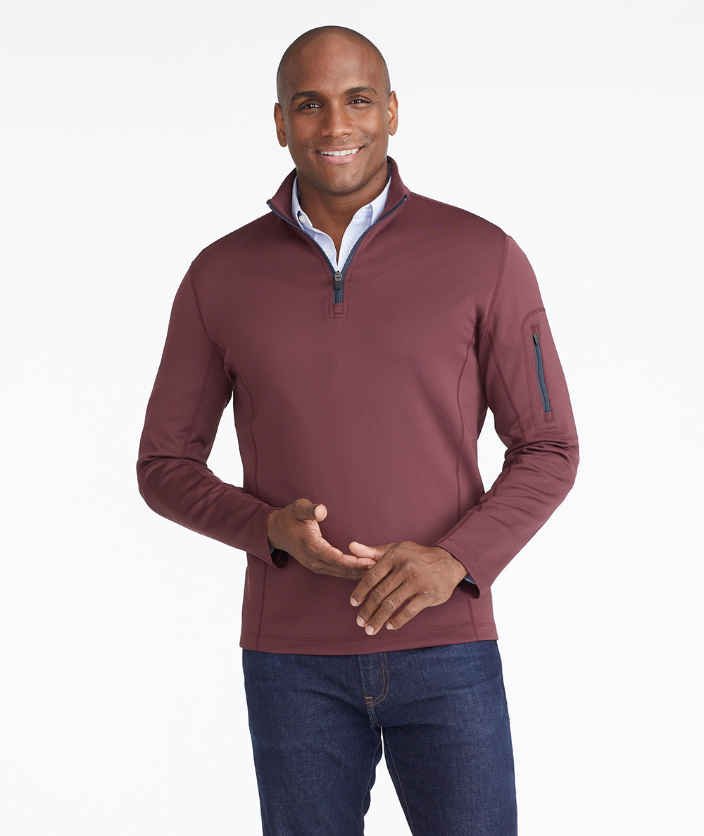 Model wearing a  Performance Quarter-Zip