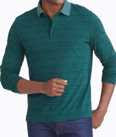 Striped Long-Sleeve Polo - FINAL SALE 1