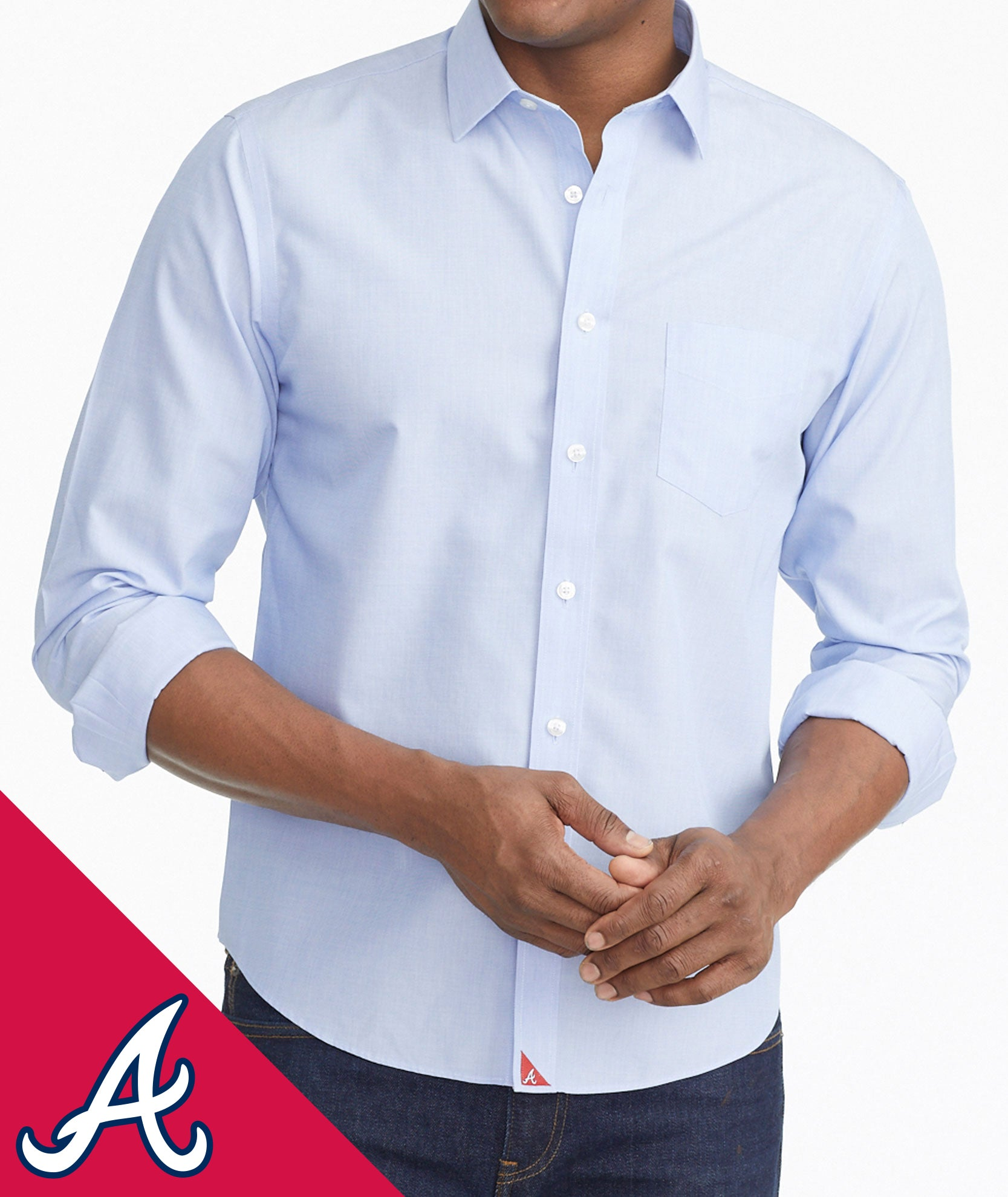 outlet store 20572 277ab Braves Signature Series Button-Down
