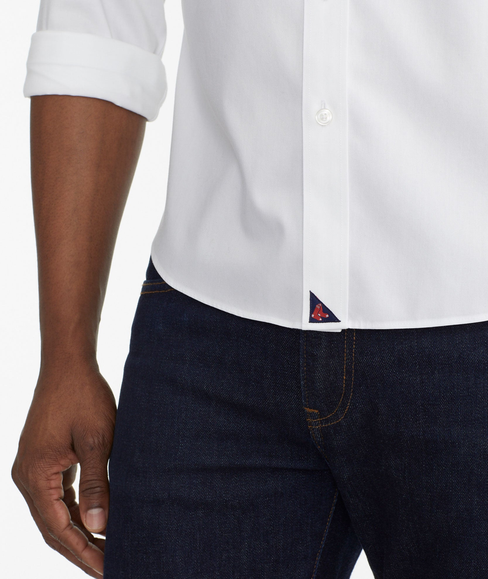 f64378139a473 Red Sox Signature Series Button-Down Wrinkle Free Solid White | UNTUCKit
