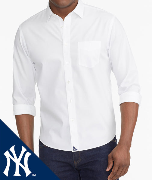 dd1a38abb2b6c Yankees Signature Series Button-Down Wrinkle Free Solid White | UNTUCKit