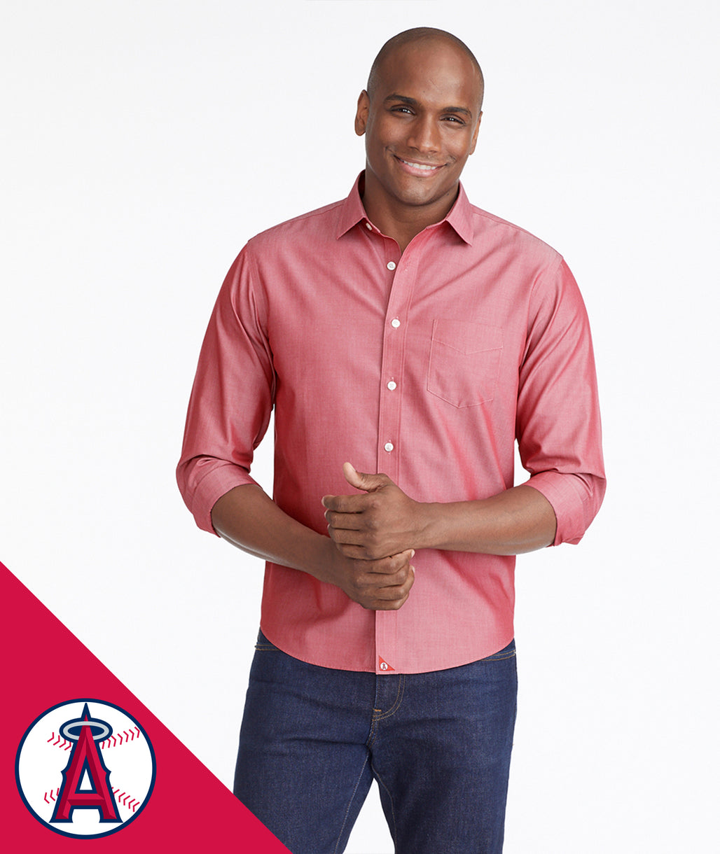 Model wearing a Red Angels Signature Series Button-Down