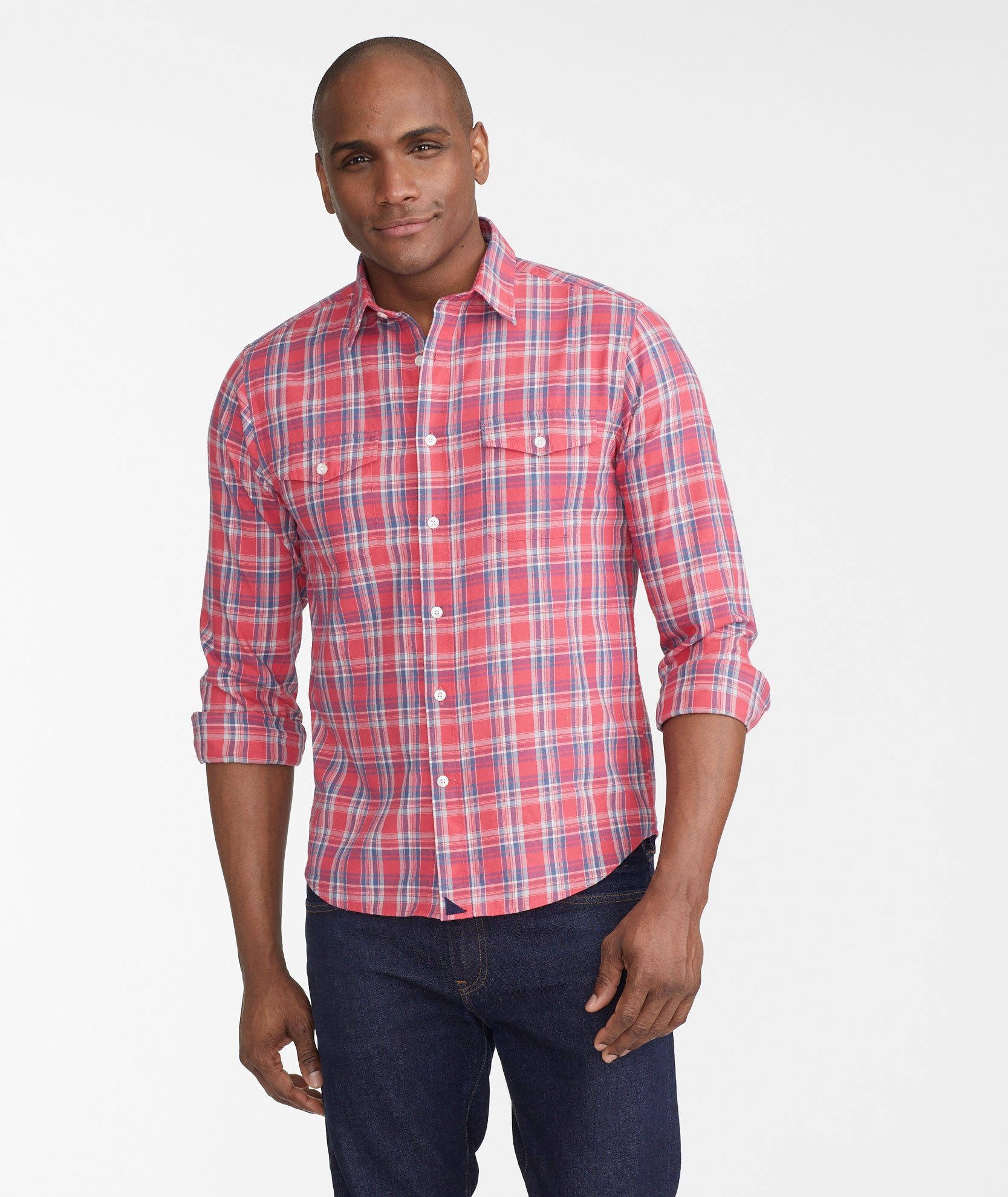 526299e9f4 Ojai Red Blue   White Plaid