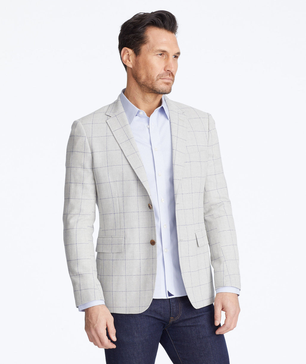 Model wearing a Tan Ordonez Sport Coat