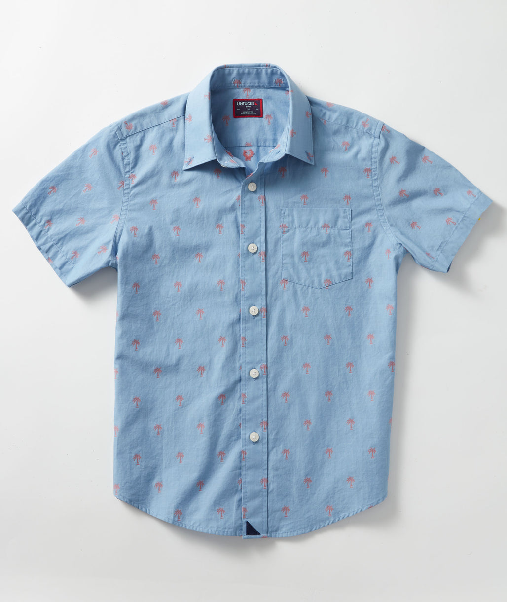 Blue Boys' Picot Shirt