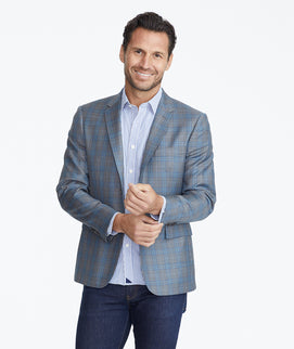 Model wearing a Grey Constructed Sport Coat