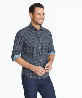 Model wearing a Wrinkle-Free Sanford Shirt