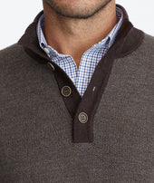 Button-Neck Merino Sweater - FINAL SALE Zoom
