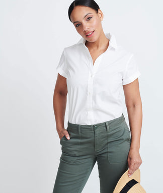 315d8213 Quick Shop. Susanne. $68. Short Sleeve White Shirt