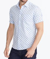 Classic Short-Sleeve Shirt with Flamingo Print - FINAL SALE 1
