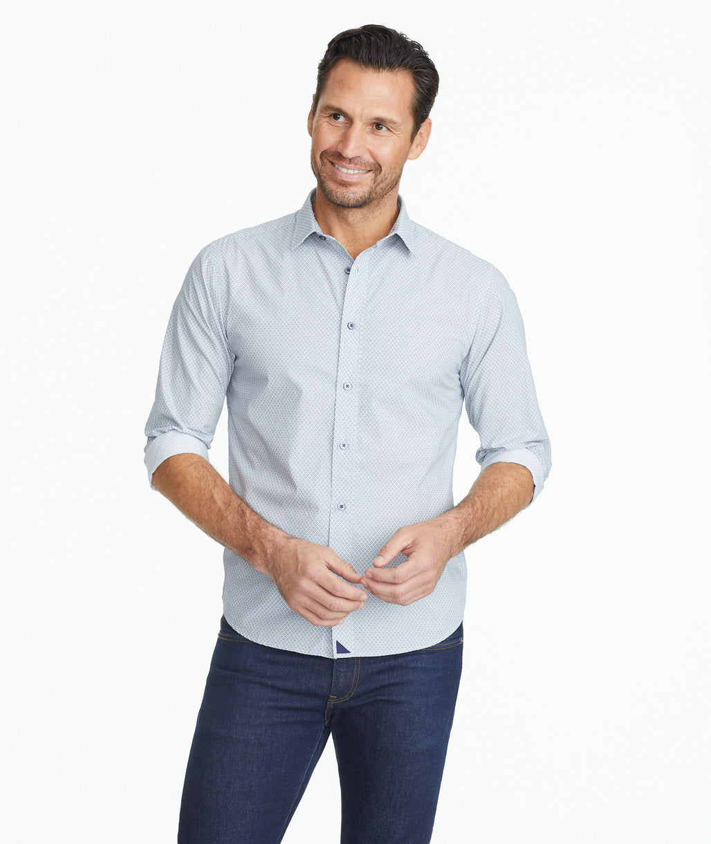 Model wearing a Classic Cotton Valdonica Shirt