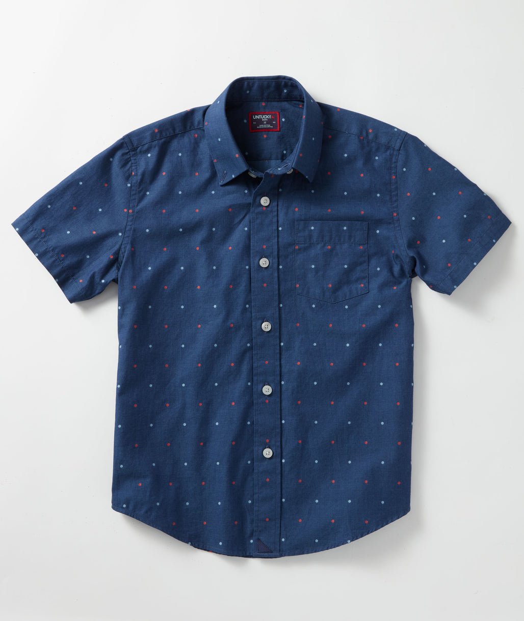 Blue Boys' Vella Shirt