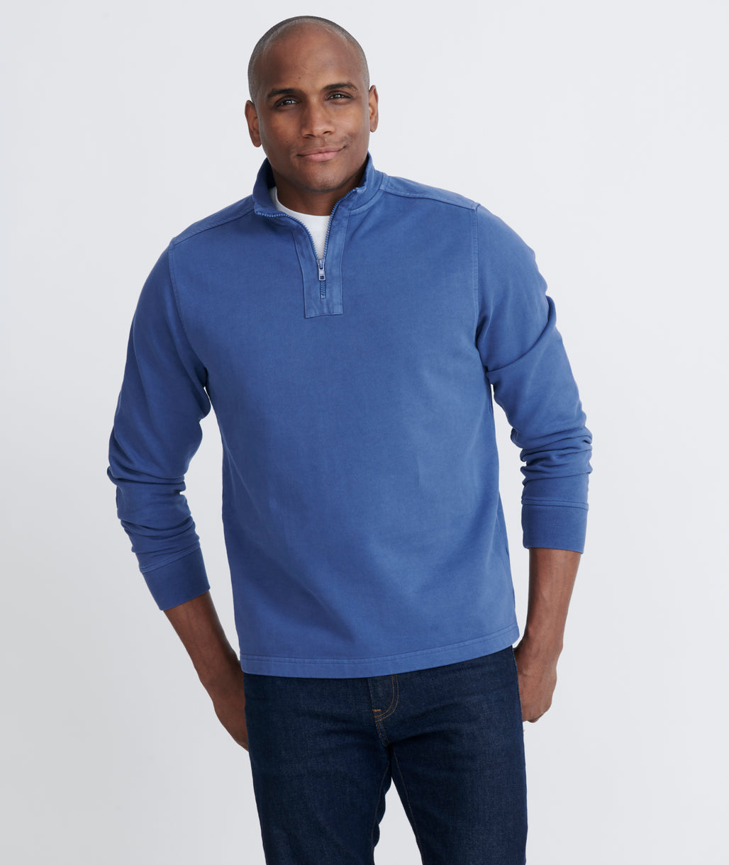 Model wearing a  Wolfred - Mid Blue