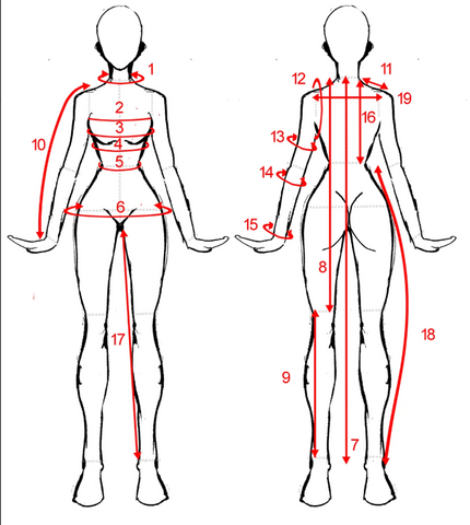 Wedding Dress Measuring Guide