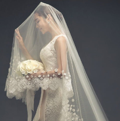 Drop Wedding Veil