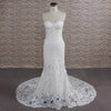 CLASSIC LACE TRUMPET WEDDING DRESS | WHITE BRIDAL GOWN | BLINCIA