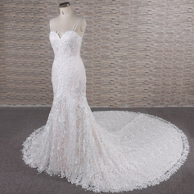 LACE MERMAID WEDDING DRESS | LACE TRUMPET BRIDAL GOWN | CONCY