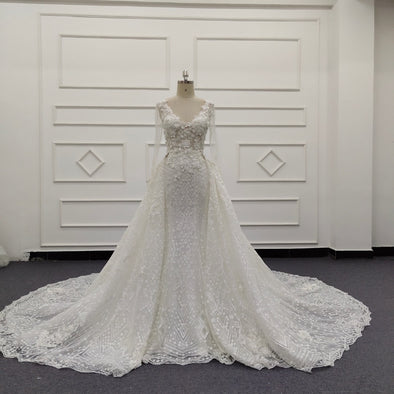Lace Wedding Dresses & Bridal Gowns | CLASSIC LACE TRUMPET WEDDING DRESS | Ivory BRIDAL GOWN | DALLAS