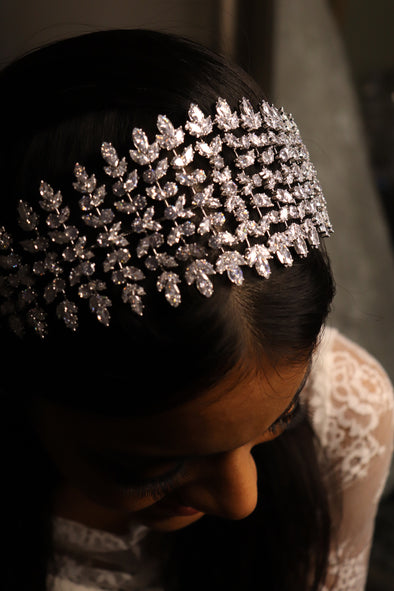 WEDDING RHINESTONE HAIRPIECE | BRIDAL HEADPIECE | PERRY