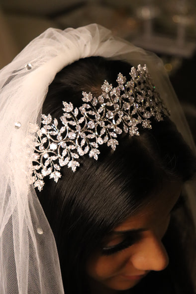 Wedding Rhinestone headpiece | Hair Accessories | Rhinestone Hairpiece Bridal |  Headpiece Silver | Bridal Headband | MONIQUE
