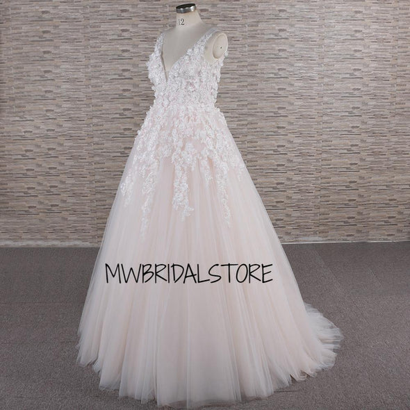 A Line Dress, custom wedding dress, Ivory wedding dress, Lace Wedding Gown, Mermaid Dress, modern wedding dress, Nude Bridal Gown, princess gown, romantic dress, Trumpet, Trumpet Dress