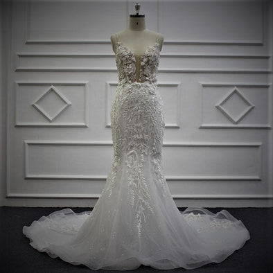 TRUMPET WEDDING DRESS | FIT & FLARE BRIDAL GOWN | PATTY